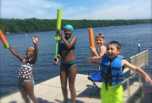 Summer fun 4 kids on dock