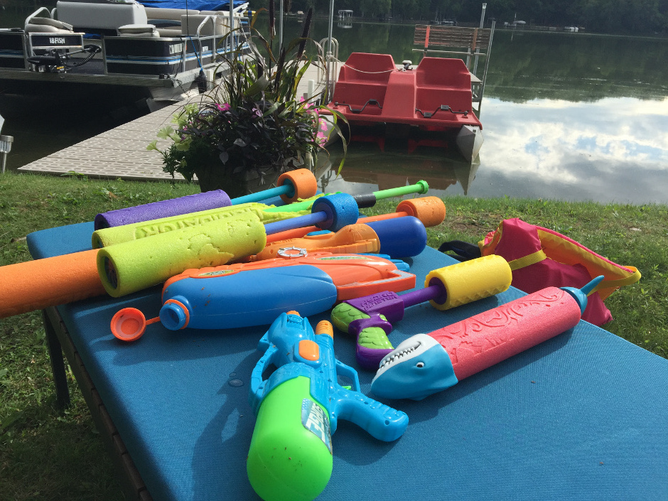 waterguns by dock