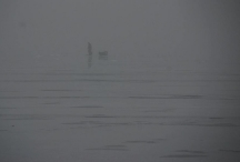 foggy ice fishing
